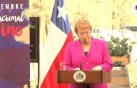 """Presidenta Michelle Bachelet Jeria instaura """"Día Nacional del Vino"""""""